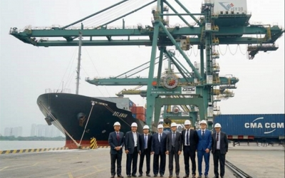 CMA CGM Group Delegation Led by Mr. Farid Salem visits Vietnam International Container Terminals
