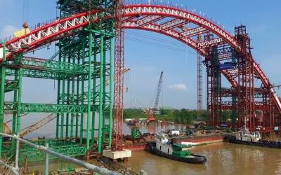 Vietranstimex hoàn thành công trình lắp đặt các đốt vòm cầu Hoàng Văn Thụ – Hải Phòng