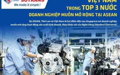 Việt Nam trong top 3 nước doanh nghiệp muốn mở rộng tại ASEAN