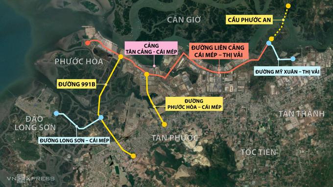 6 dự án giao thông kết nối cụm cảng Cái Mép – Thị Vải